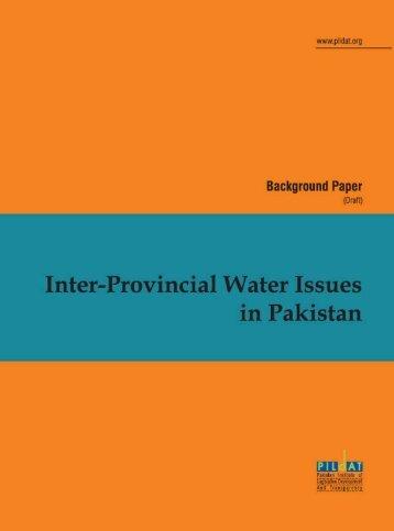 Inter-Provincial Disputes Over Water in Pakistan