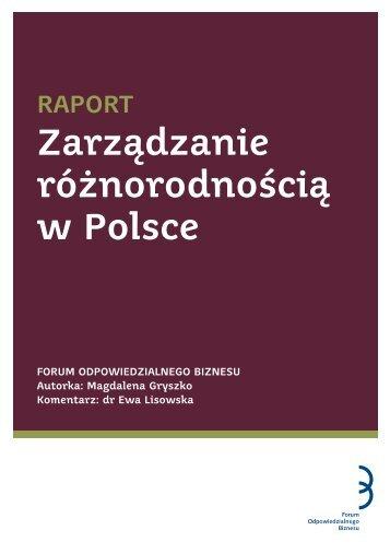 RAPORT Zarządzanie różnorodnością w Polsce - NGOteka