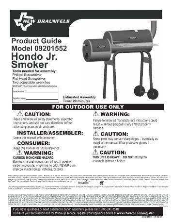char grill smoker instructions