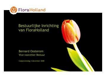 Presentatie De bestuurlijke inrichting van FloraHolland