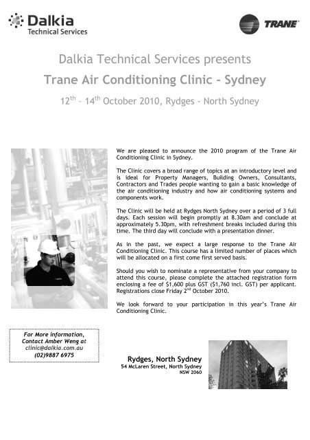 Dalkia Technical Services presents Trane Air Conditioning Clinic