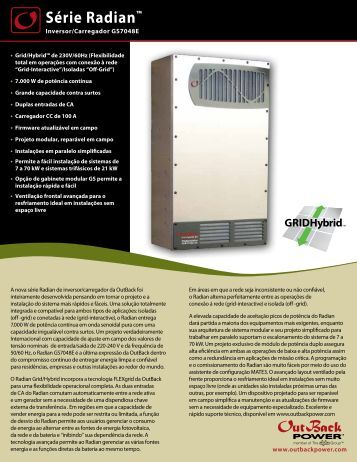 Série Radian™ - OutBack Power Systems