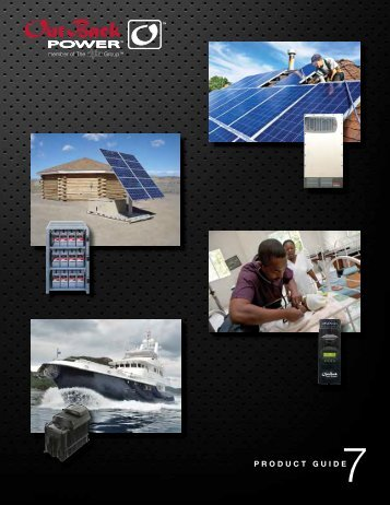 Product Catalog 2013 - OutBack Power Systems