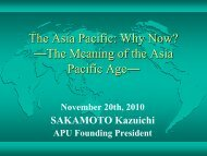 The Asia Pacific: Why Now? ?The Meaning of the Asia Pacific Age?