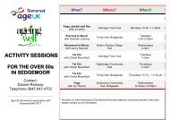 ACTIVITY SESSIONS - Zing Somerset