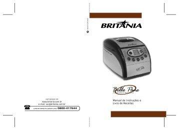 217 05 00 Rev0 Folheto de Instruções Panificadora Bello ... - Britânia