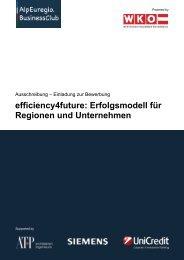 efficiency4future: Erfolgsmodell für Regionen und Unternehmen