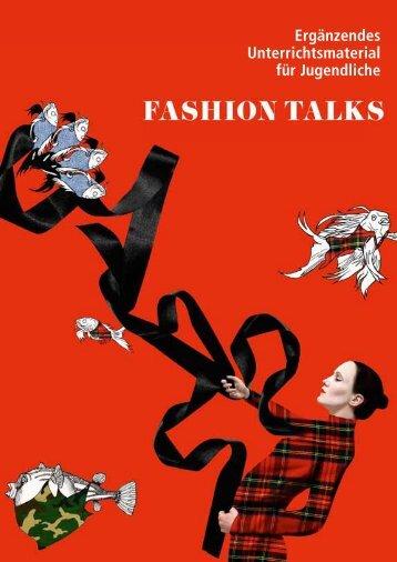 Ergänzendes Unterrichtsmaterial für Jugendliche - Fashion Talks