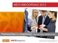 Partnerships in zorginkoop - NEVI Inkoopdag