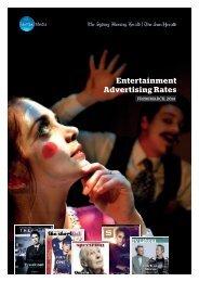 SMH Entertainment Rate Card - Fairfax Media Adcentre