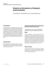 Evaluation von Instrumenten zur Erhebung der Arbeitszufriedenheit