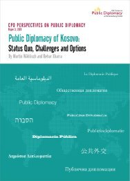 Public Diplomacy of Kosovo: Status Quo, Challenges and Options