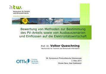 Bewertung von Methoden zur Bestimmung des PV-Anteils sowie ...