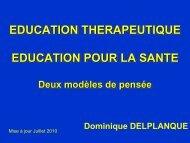 Education thérapeutique, éducation pour la santé