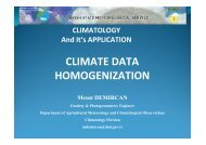 climate data homogenization - RTC, Regional Training Centre - Turkey