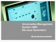 Universelles Management System UMS: Die neue Generation - Security ...