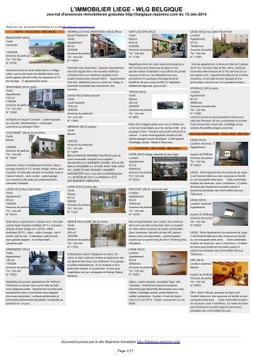Anuncio inmobiliario en Belgica LIEGE En alquiler para ... - Repimmo