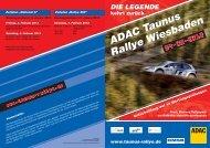 ADAC Taunus RallyeWiesbaden - Scuderia Wiesbaden eV im ADAC