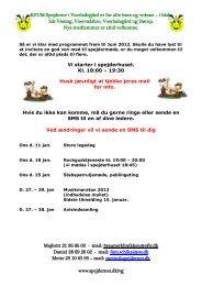 Spejderprogram vinter-forår 2012 - Spejdernet