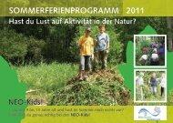 SOMMERFERIENPROGRAMM 2011 - Naturschule Konstanz