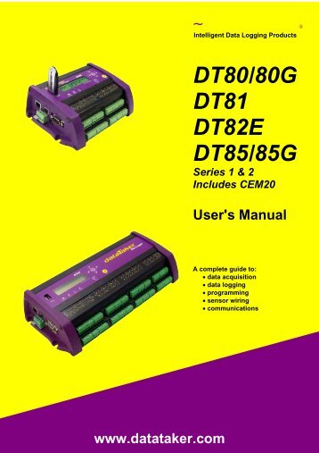 DT80 Series User's Manual