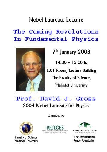 Prof. David J. Gross - Mahidol University