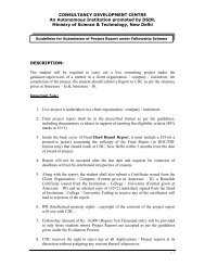 Guidelines section for submission of Project Reports. - Consultancy ...