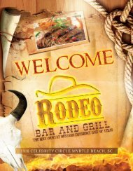 Menu - Rodeo Bar and Grill