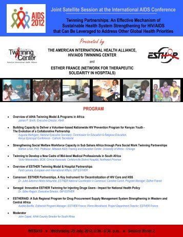 IAS email flier DRAFT - HIV/AIDS Twinning Center