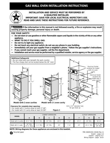 General electric Microwave Installation Manual on