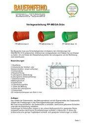Datenblatt PP-MEGA-Rohr