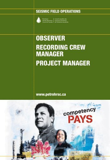 observer recording crew manager project manager - Canadian ...