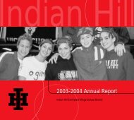 2003-2004 Annual Report - Indian Hill School District