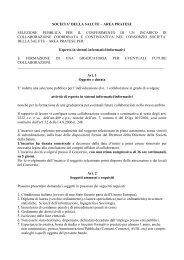 Bando per esperto in sistemi informatici/informativi - PO-Net Rete ...