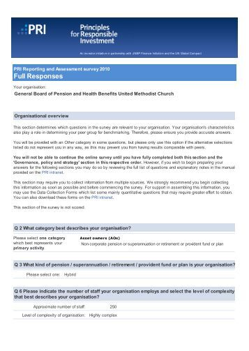 General Board of Pension and Health Benefits United Methodist ...