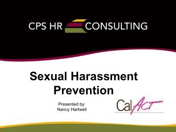 Sexual Harassment Prevention - CalACT