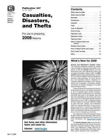 2008 Publication 547 - Internal Revenue Service