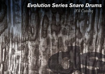Evolution Series Snare Drums - ds drum Italy