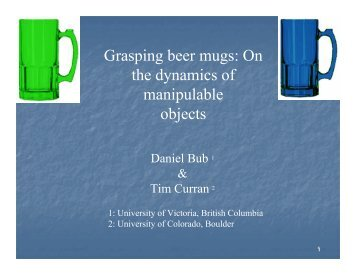 Grasping beer mugs - The Science Network