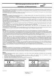 BMH-Notausgangsverschlüsse nach DIN EN 179