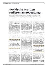 Politische Grenzen verlieren an Bedeutung (Nr. 4/2010) - SVSM ...