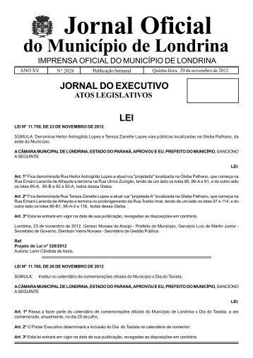 Jornal Oficial - Estado do Paraná