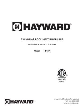 SWIMMING POOL HEAT PUMP UNIT - Hayward