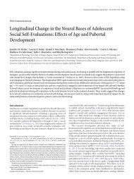 Longitudinal Change in the Neural Bases of Adolescent Social Self ...