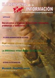 Documentos y lenguaje de marcado - El profesional de la información