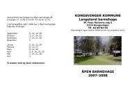 Vennersberg barnehage har åpen barnehage på - Kongsvinger ...