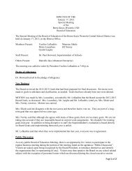 Page 1 of 2 MINUTES OF THE January 17, 2013 Special Meeting of ...