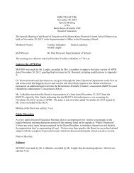 MINUTES OF THE November 28, 2012 Special Meeting of the Berne ...