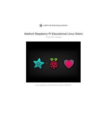 Download Adafruit Raspberry Pi Educational Linux Distro PDF