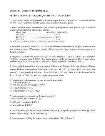 Lista de Exercícios - Chasqueweb.ufrgs.br